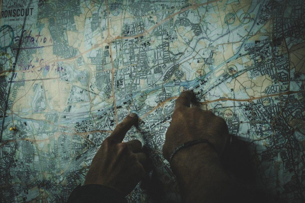 Der Weg wird beim Ironscout anhand einer Karte geplant